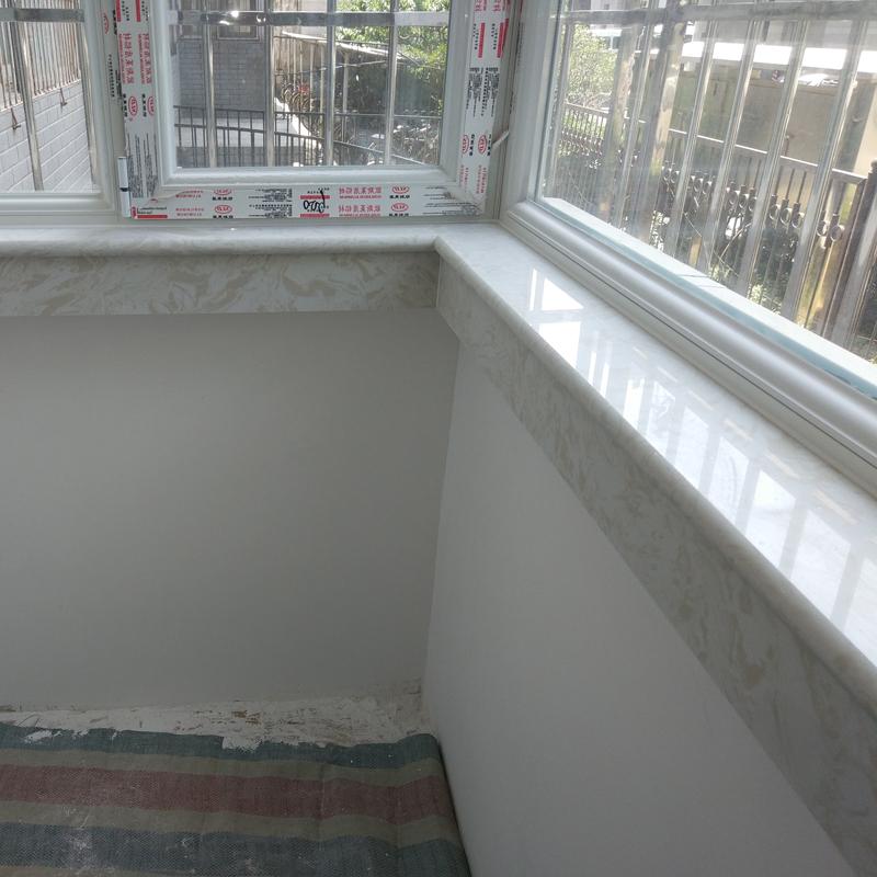 老王石材天然人造大理石定做窗台板飘窗台面楼梯踏步门窗套过门石
