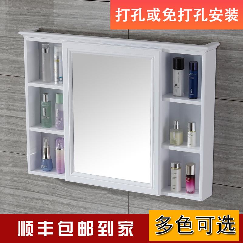 碳纤维防水浴室镜柜挂墙式卫生间箱