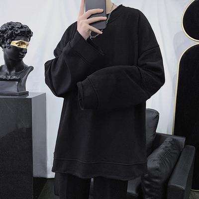 2020春款男士卫衣外套假两件港风宽松休闲男生上衣KD06-P50