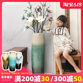 景德镇干花落地花瓶大号陶瓷客厅家用中式简约干插花摆件玄关大高图片