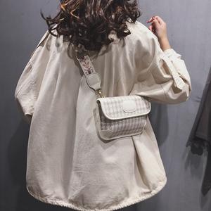 宽肩带斜挎ins网红小包包女包2020新款高级感韩版时尚百搭单肩包
