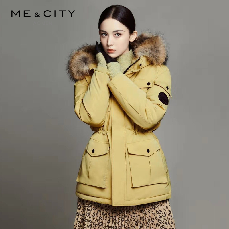 Naza's New Winter Female MeCITY Down Garment with Furry Collar Parker