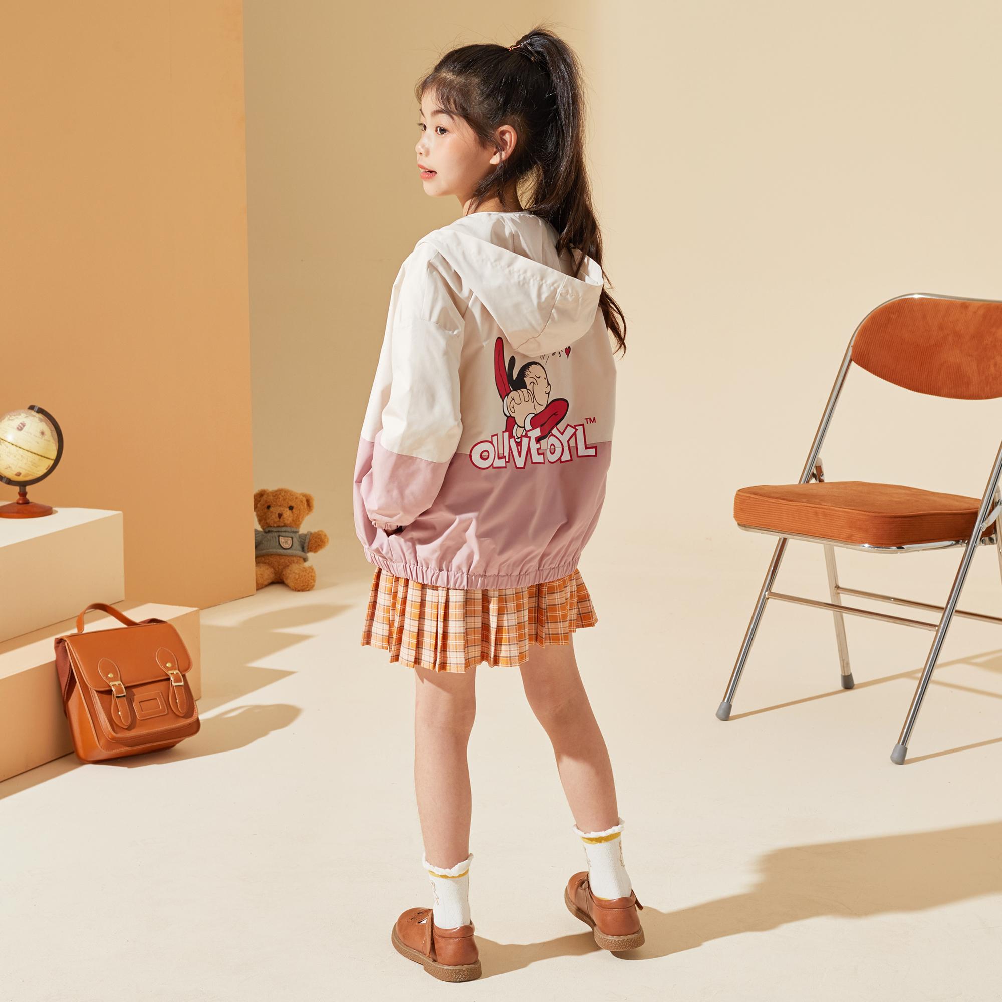女童外套2021秋装新品中大童儿童外套韩版潮