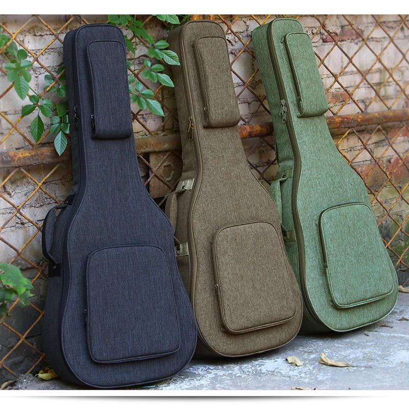 Руис Руис утепленный гитара пакет плечи Цинь пакет 39 дюймов 40 дюймов 41 дюйм водонепроницаемый Звукоизолированная фольклорная гитара пакет