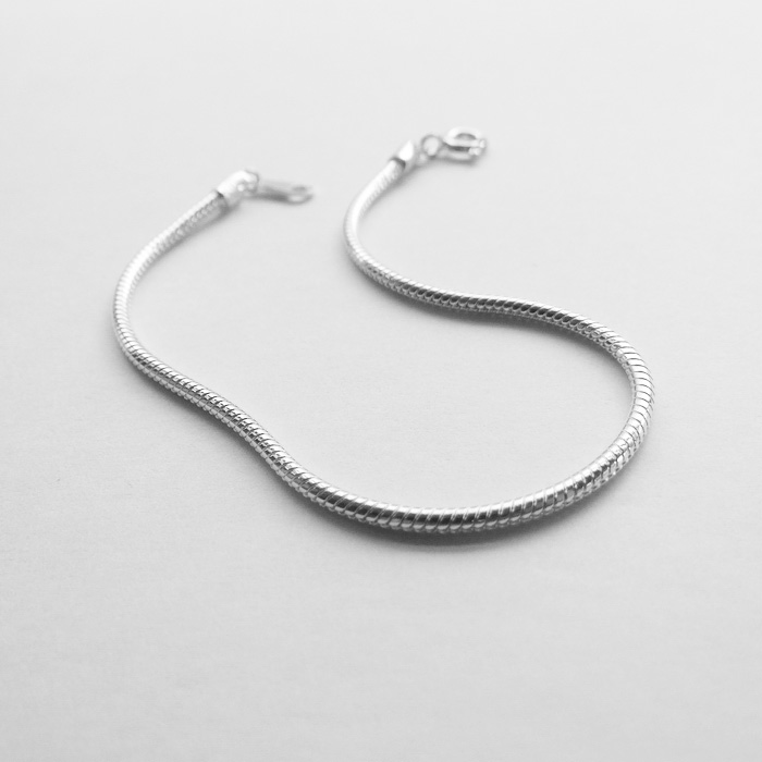 S4 Bracelet Bracelet 925 pure silver simple European and American snake bone chain snake chain rough basic daily accessories
