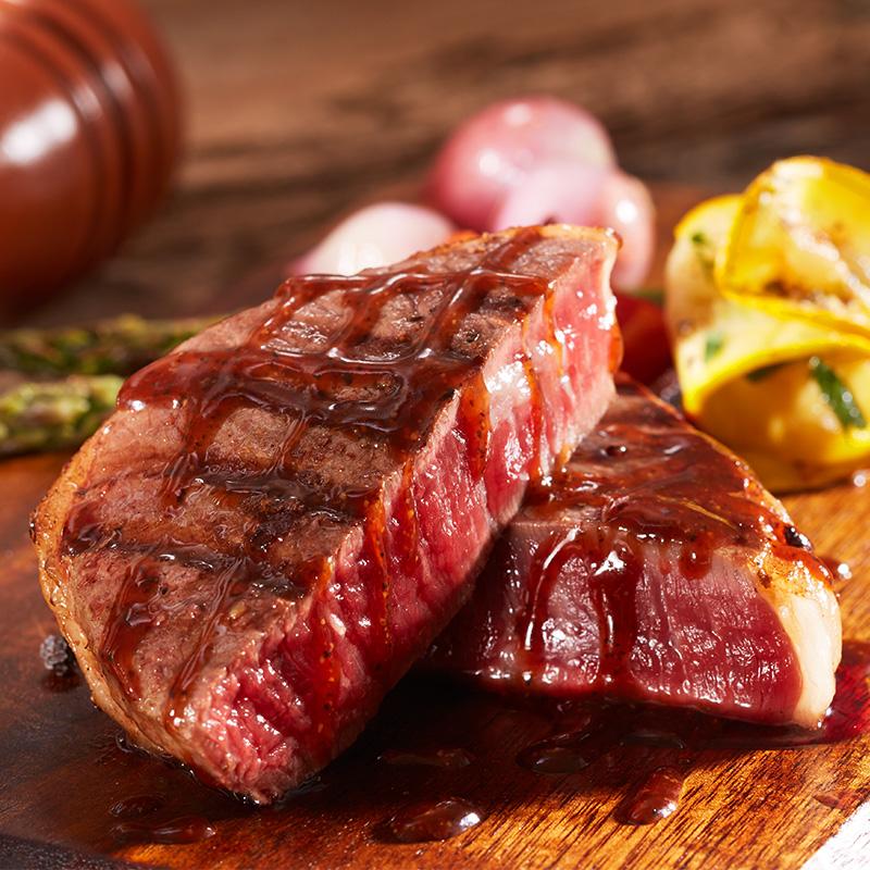赤豪澳洲家庭牛排套餐团购8单片新鲜进口牛肉菲力黑椒酱儿童刀叉