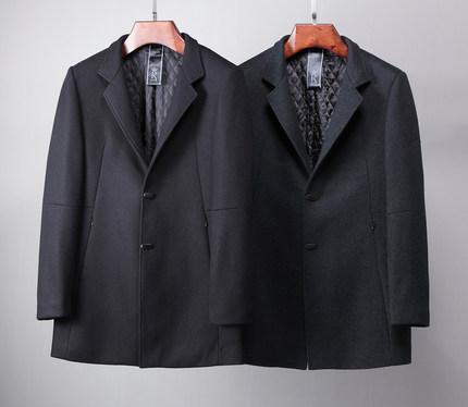 冬季新款毛呢大衣 商务休闲羊毛呢外套 男士小立领中长款呢大衣