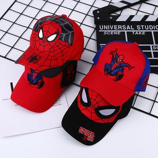 新款 儿童帽子男童蜘蛛侠棒球帽宝宝卡通鸭舌帽户外休闲出游遮阳帽