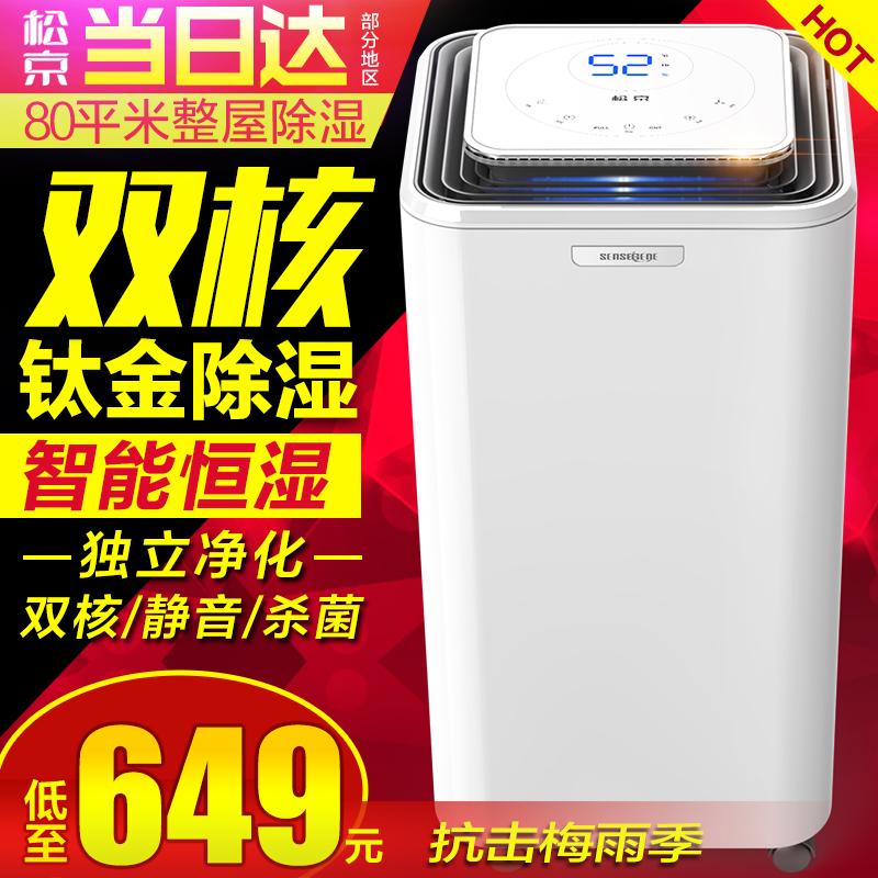 除湿机家用静音迷你抽湿卧室地下室工业大功率吸湿器去湿DH02松京
