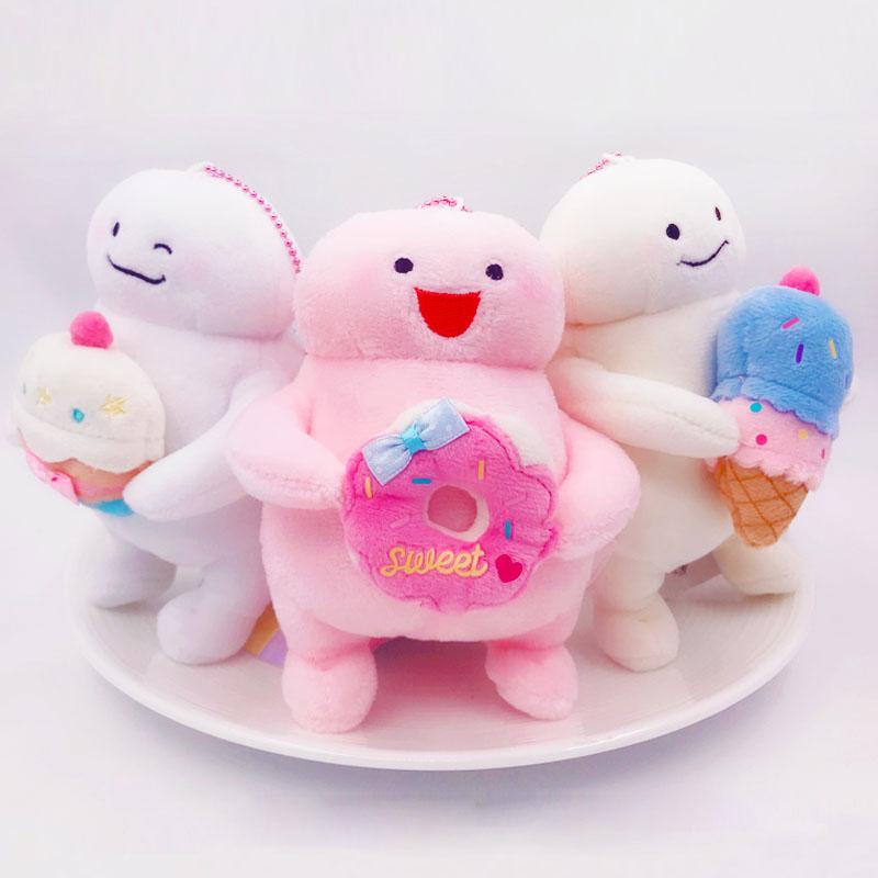 日本NIC韩国INS网红JI-BANG可爱胖胖脂肪君毛绒娃娃手机链钥匙扣