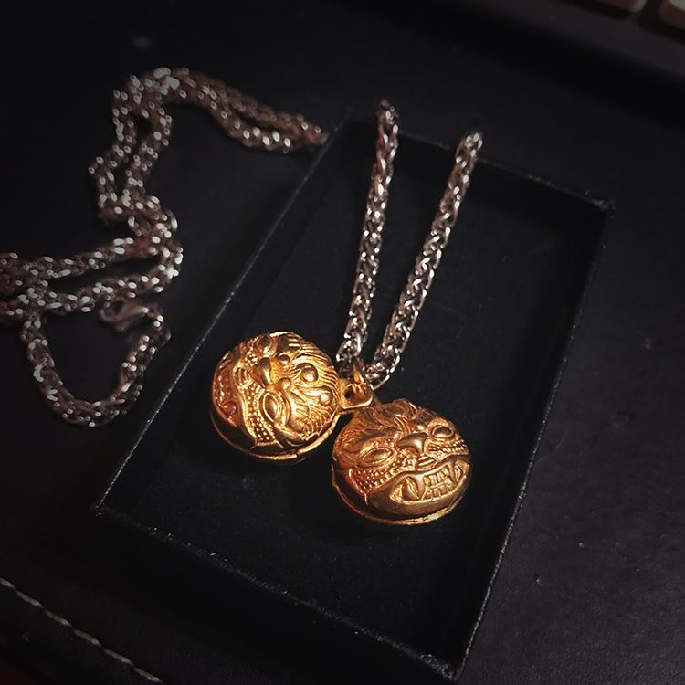 Zhenhun same necklace Zhao Yunlan cat Daqing same necklace brass tiger bell Zhu Yilong couple necklace