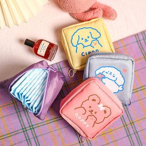 日系网红可爱卡通ins大容量M巾卫生棉收纳包便携随身袋子少女迷你小巧学生放装姨妈巾的月事包包杂物口红小包