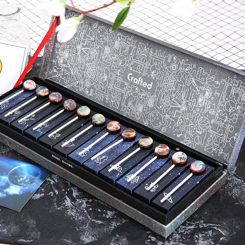 星空创意棒棒糖礼盒装12星座圣诞节糖果小零食韩国可爱生日礼物女