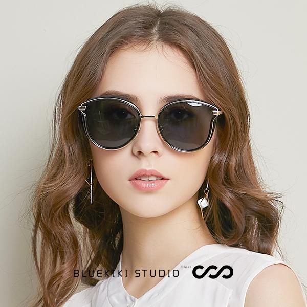 蓝其偏光墨镜女大脸圆脸显瘦眼镜开车驾驶镜防紫外线女士太阳镜潮