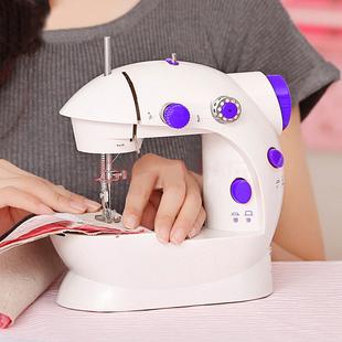 宿本家用电动缝纫机便携台式 电动小型迷你多功能带灯202缝纫机