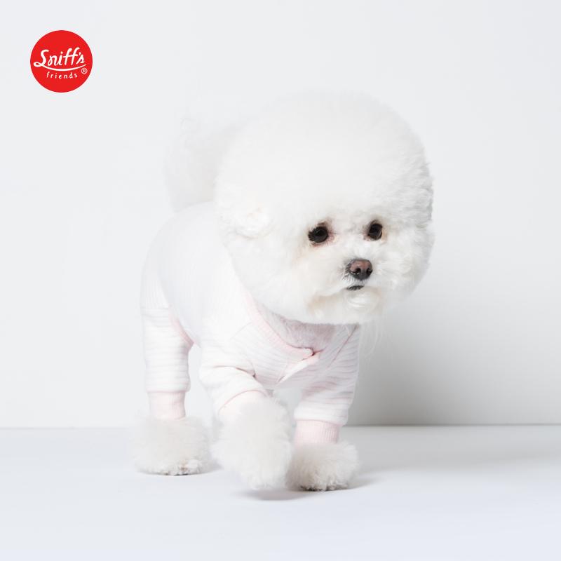 2019秋冬新款宠物狗服饰简约条纹保暖针织连体裤Sniff 韩国