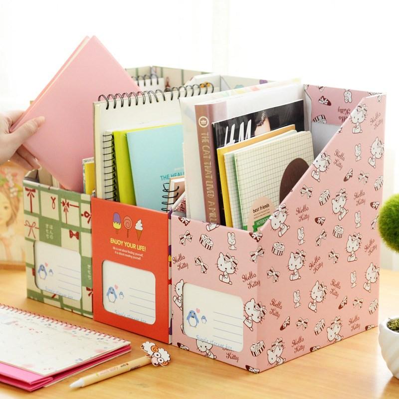 2整理书立个包邮 盒子大号盒桌面收纳盒学生纸质办公桌文件盒子盒