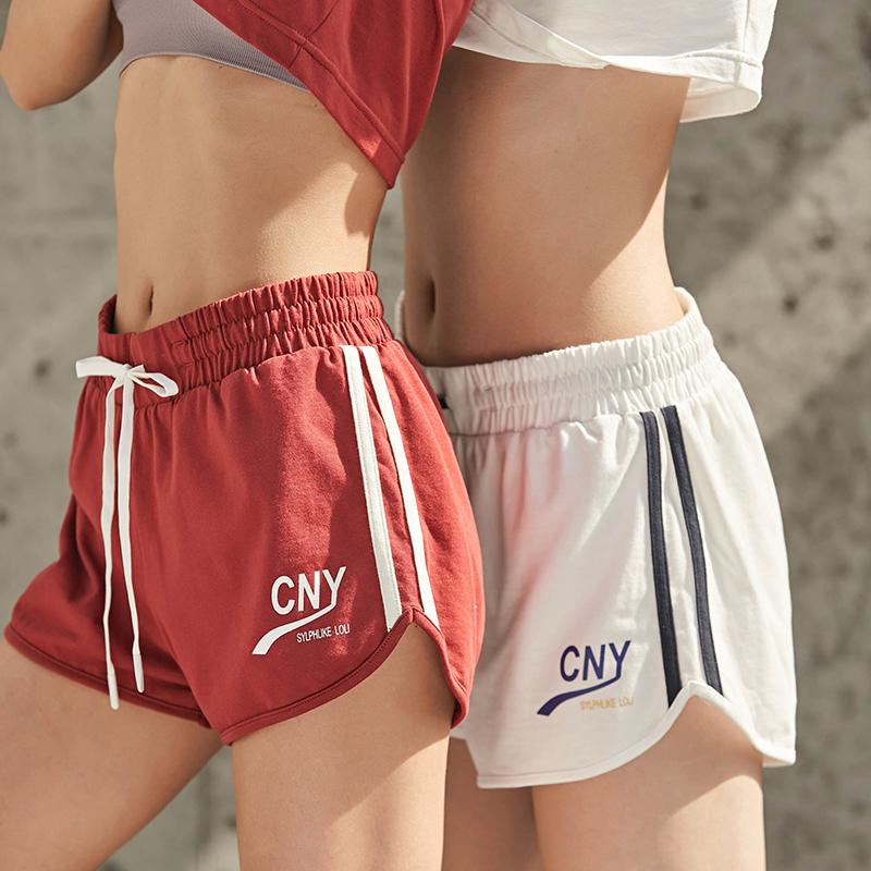 暴走的萝莉宽松运动短裤女速干透气休闲热裤打底裤陈暖央字母套装129.00元包邮