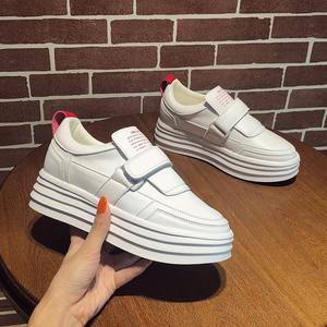 领5元券购买鞋子女2018新款秋冬季厚底内增高小白鞋保暖加绒韩版毛毛鞋雪地靴