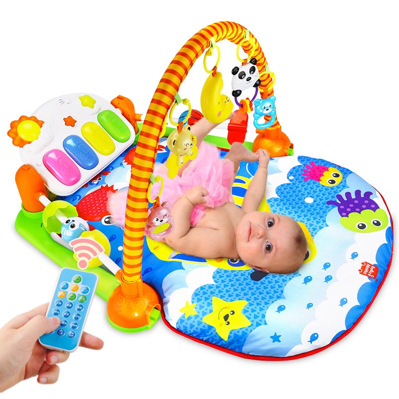 腳踏鋼琴嬰兒健身架器新生兒寶寶音樂玩具0~1歲3~6~12個月兒童
