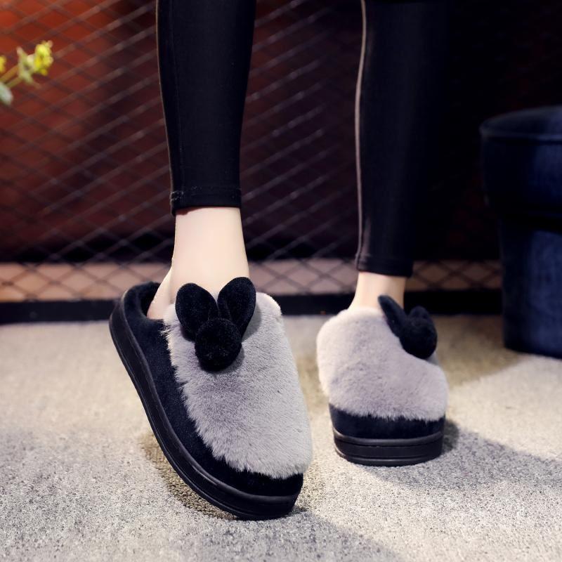 20192018新款棉拖鞋女冬季居家用室内保暖可爱厚底防滑韩版冬天毛