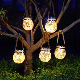 太阳能灯别墅庭院装饰花园布置院子阳台户外家用防水挂树灯小夜灯