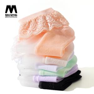 【5双装】儿童花边水晶袜夏季童袜短袜丝袜