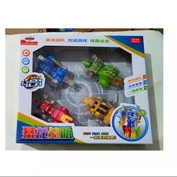 暴龙战队合体恐龙变形玩具金刚三角龙霸王龙钉背龙益智组合玩具