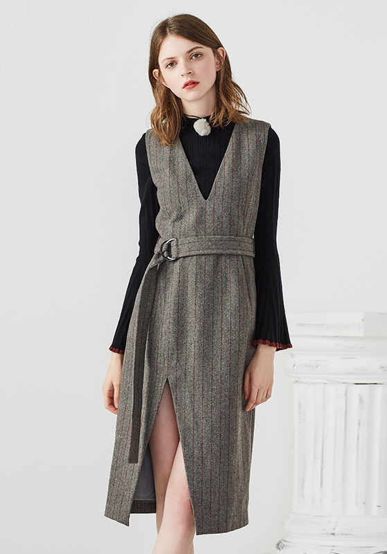 香[Y172-601]专柜品牌599正品羊毛女裙打底女装连衣裙0.68KG