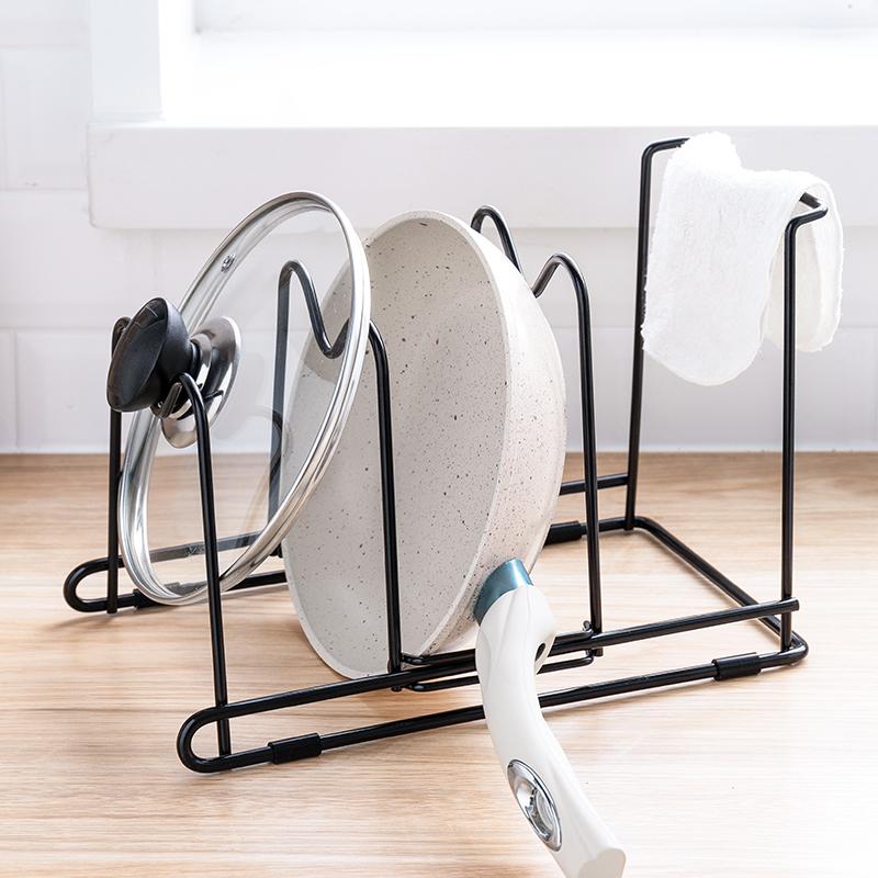 纳川创意厨房用品锅盖架免打孔多功能可调节菜板砧板置物架收纳架