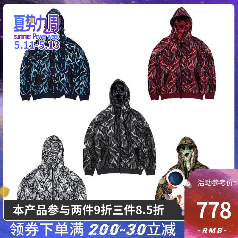愚人潮社CLOT x ALIENEGRA黑荊棘外套拉鏈衛衣陳冠希同款上海限定