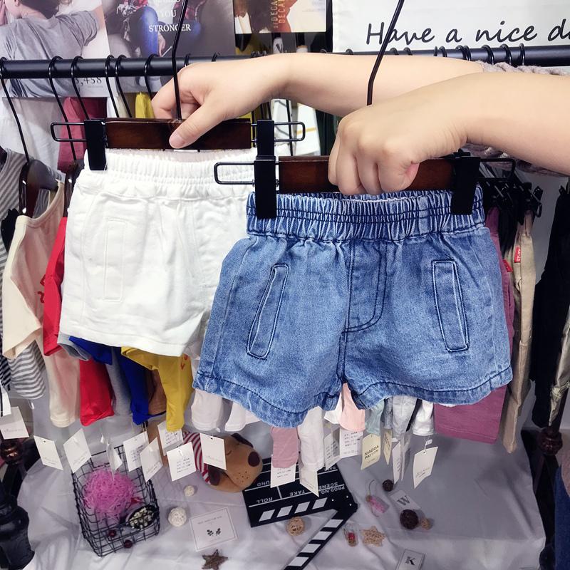 韩国童装2018夏装新款男女童宝宝牛仔短裤儿童小童潮裤子1-3-5岁