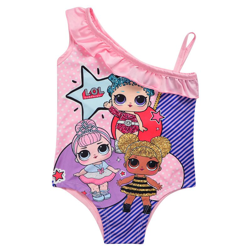 Childrens one piece swimsuit issued by foreign trade cartoon spot