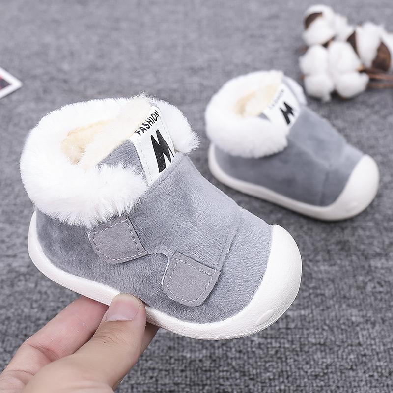 学步鞋女宝宝鞋子男0一1岁秋冬保暖加厚加绒婴儿软底6-12个月棉鞋