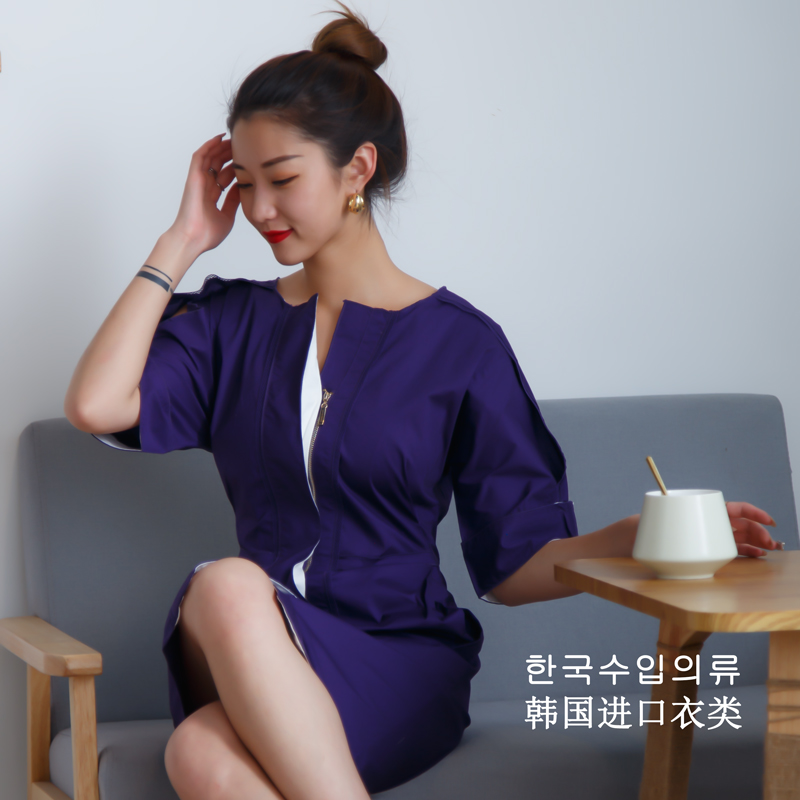 New dress of spring and summer 2020 imported from South Korea looks slim and slim, long and short sleeve, workplace fashion womens dress is soft