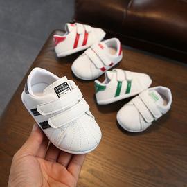 婴儿软底学步鞋小白鞋0-1岁男女小童防滑步前鞋宝宝单鞋休闲鞋潮图片
