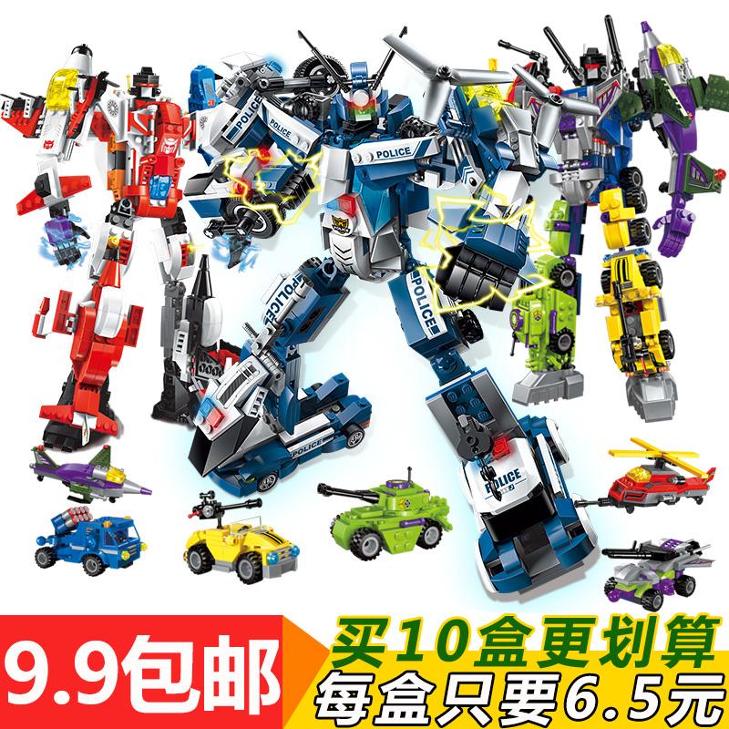 兼容樂高積木6男孩子7合體變形金剛機器人機甲益智拼裝8-10歲玩具