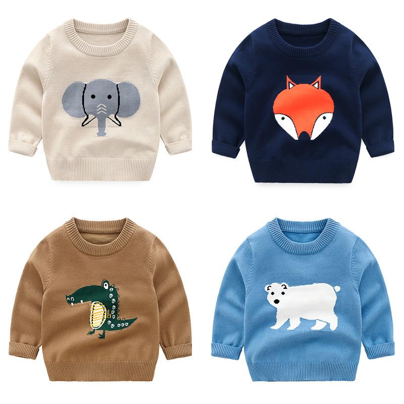 男童针织衫套头毛衣2020新款春装童装宝宝儿童女童薄款卡通线衣潮图片