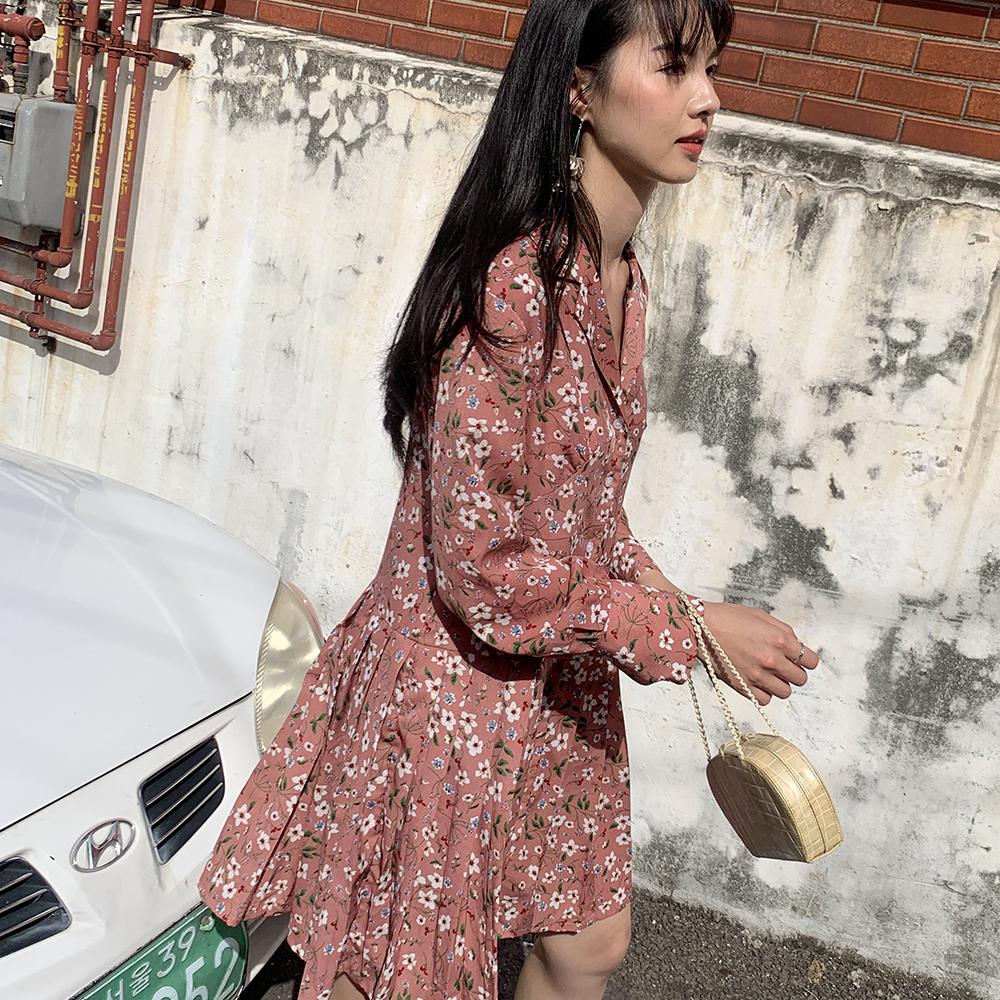 superfay原创自制秋冬v领连衣裙