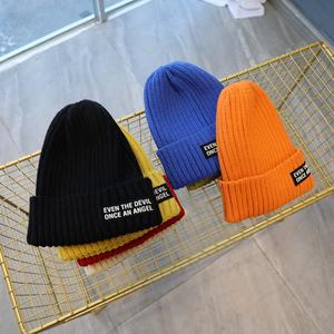2020冬新款男童韩版糖果色保暖帽子