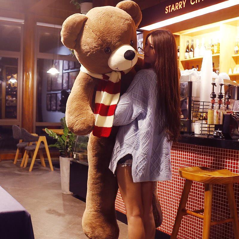 节日礼物跳舞女朋友生日礼物 大熊送女友大号贴心娃娃洋气宝宝家