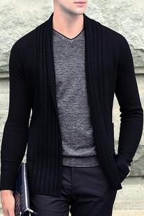 毛衣男秋冬男装新款外套男士针织衫开衫外穿时尚休闲潮流宽松韩版