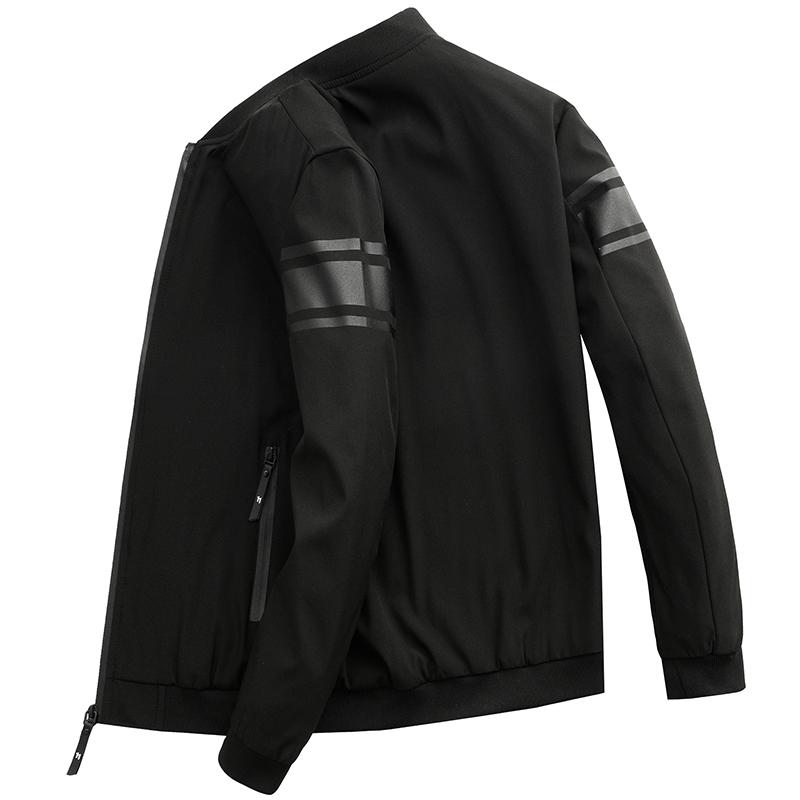 外套男春秋装上衣加绒韩版潮流男棒球服冬季新款男士运动休闲夹克