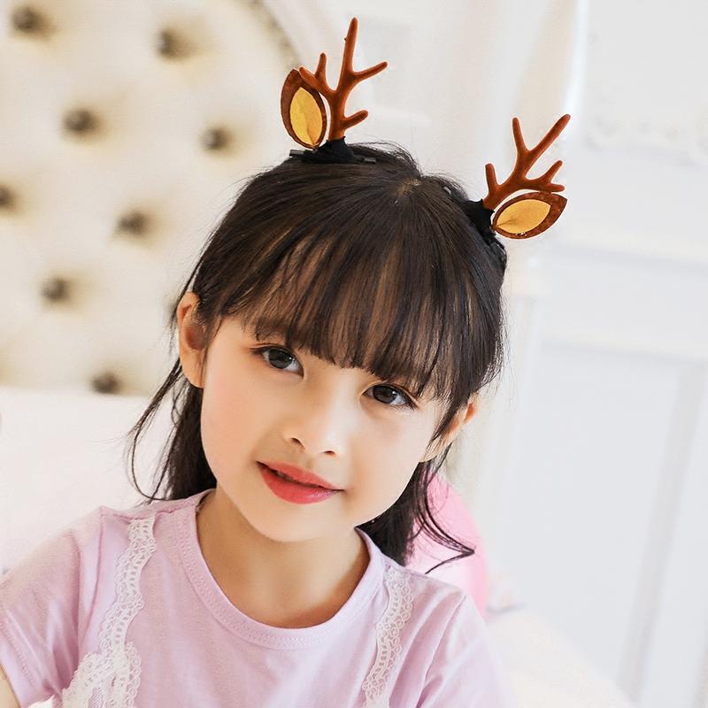 包邮儿童可爱鹿角发箍女韩版简约卡通发卡自拍头饰女童卖萌耳朵头箍