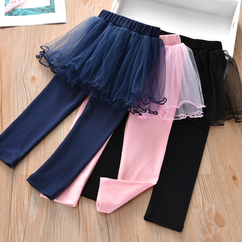 2021春季新款韩版纯色儿童女童裤子