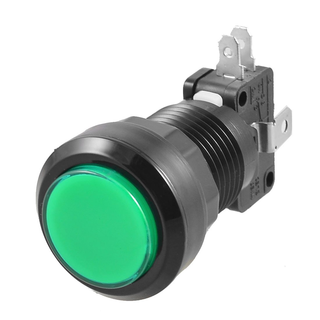 SZS Hot Green LED Lamp 24mm Dia Round Push Button w Limit Sw