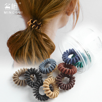 Telephone line hair ring female head rope Hair girl Korean no trace bold trumpet scrub leather sleeve simple sinew Adult