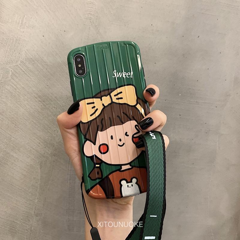 ins可爱绿色甜蜜女孩xr苹果手机壳(用29.2元券)