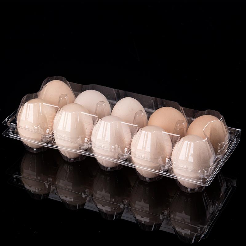 装鸡蛋的包装鸡蛋盒子塑料一次性托盘10枚蛋拖透明食品打包盒