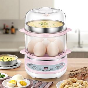 小熊蒸蛋器自动断电家用煮蛋器可预约定时双层炖蛋蒸鸡蛋羹机神器